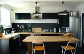 cuisine bois design cuisine noir et bois cuisine noir mat et bois clair