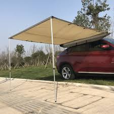 Outsunny Car Awning Portable Folding Retractable Rooftop Sun