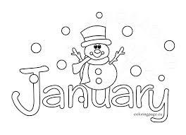January Coloring Sheets