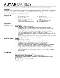 Click On Any Of The Resume Examples Below To Get Started Your Now