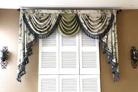 Exciting Bay Window Treatments Dining Room Backyard Style 782018 And Curtains Valances Swags Decoration Ideas
