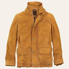 Men s Nubuck Leather Barn Coat