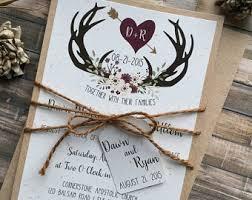 New Antler Wedding Invitations 7
