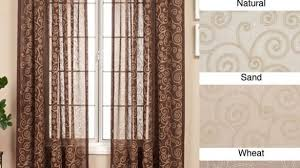 renzo chain stitch faux silk 120 inch curtain panel 55 x 120 with