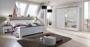 wimex schlafzimmer komplett 4 teilig spiegel bett 180x200cm weißeiche graphit