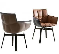 b b italia husk swivel chair leather shell fabric cushion