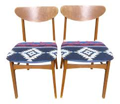 Mid-Century Southwestern Upholstered Dining Chairs - Pair On ... Ding Chair Buying Guide Hayneedle Clearance Koebers Interiors Crocodile Chairs Online Accents Of Salado Tuscan Decor Fniture Beautify Your Home With Unique And Handmade Genuine Leather Room Madison Walnut Barley Twist Set 8 Chairish Zola 2 Dark Chocolate Stools Floridian Side Fabric Or Custom Upholstered Southwestern Sunset Western Passion Wingback White Parsons