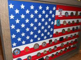 US Flag Coin Display Military Challenge