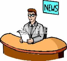 Man Reading News For Television Broadcast Royalty Free Clipart Picture Rh Picturesof Net Anchor