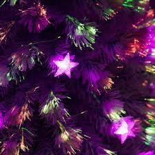 HomCom 5 Holiday Fiber Optic LED Light Up Christmas Tree