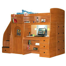 Bunk Bed Desk Combo Plans by Dressers Bunk Bed With Built In Desk And Drawers Bunk Bed Desk