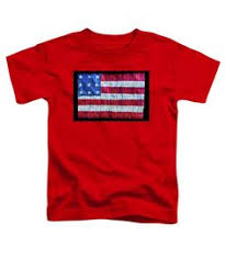Rustic American Flag Toddler T Shirt Featuring The Photograph By Debra Martz