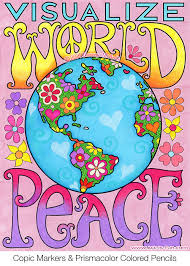 Visualize World Peace From The Love Coloring Book By Thaneeya McArdle