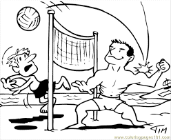 Beach Volleyball Coloring Page