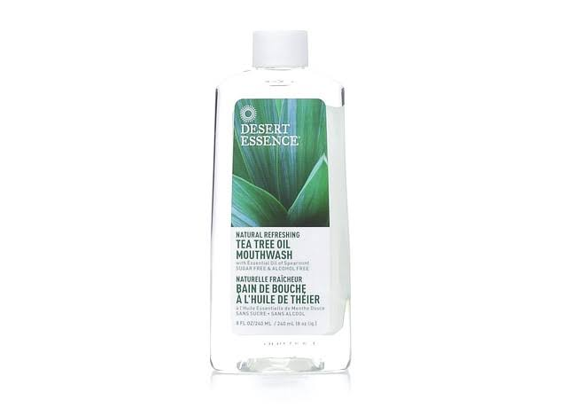 Desert Essence Spearmint Mouthwash with Organic Tea Tree Oil