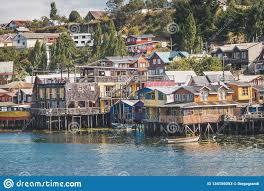 100 Houses In Chile Gamboa Palafitos Stilt Castro Chiloe Island Stock