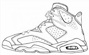 Coloring Pages Kids Shoes Shoe Jordan Pictures Free Sheets Sneakers Large Size