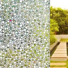 eono by 3d folie fenster sichtschutz folie fenster felbstklebend für badezimmer dekoration und schutz der privatsphäre 90cmx200cm
