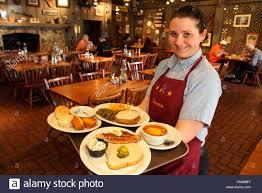 Cracker Barrel Restaurant Stock s Front Porch Employees Fort Lauderdale Ft Florida Woman Waitress Cnm