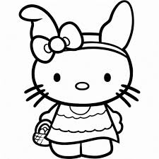 Print Easter Hello Kitty Coloring Pages Or Download