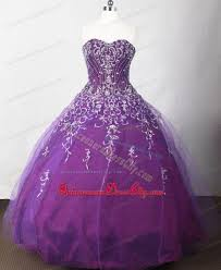 romantic purple sweetheart sweet 16 dresses with embroidery 2013