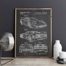 Car Art Ferrari Sports Poster Enthusiast Basement