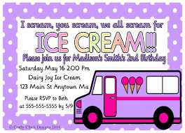 Ice Cream Truck Birthday Party Invitations- Light Purple | Crafty ... Sweet Ice Queen Cream Truck Kids Birthday Party Places Event Invitation Editable Diy Printable Classic Southern Van Shop On Wheels Popsicle Moore Minutes Build A Dream Playhouse Giveaway And Also Tips On How Doodlebug Designdoodle Popsweet Summer Collectionice Dragon Ice Cream Treats Let Us Make Your Special Cool Treat Invitations Vintage Cream Petite Studio Favor Box Cupcake Set