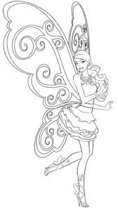 Barbie Fairy Coloring Pages 19 Page
