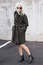 Figtny Keeps It Cool And Sophisticated In This Grey Wrap Coat From Artizia Worn With