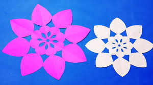 Paper Cutting Decoration How To Simple Flowers DesignsFlower Out Of