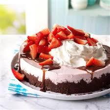 Chocolate Topped Strawberry Cheesecake Recipe