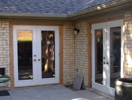 sliding doors replaced with french doors in dallas texas