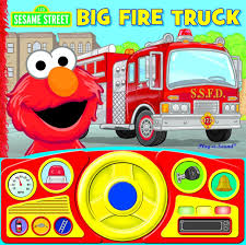 Steering Wheel Book Sesame Big Fire Truck - Toys