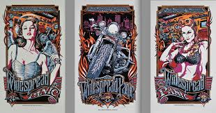 Widespread Panic Halloween 2015 by Widespread Panic Reveals Complete Three Poster Triptych For
