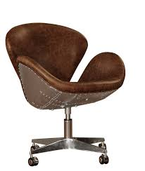 Lazzaro Leather Timeless Bomber Leather Desk Chair & Reviews