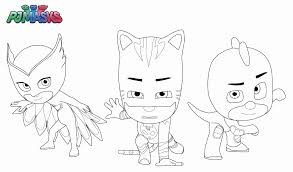 Owlette Coloring Page Awesome Pj Masks Disney Book Catboy Gekko Photograph