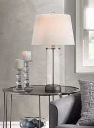 Fillable Craft Table Lamp by Glass And Steel Cylinder Fillable Table Lamp Lamps With A