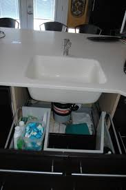 Ikea Hack Vessel Sink by Sink Base With Functional Drawers Ikea Hackers