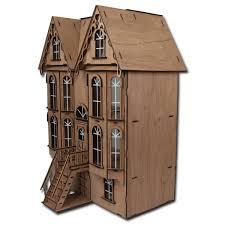 Loft Apartments Miniature Dollhouse Wooden Doll House Furniture Led