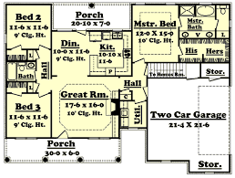 3 Bedroom Ranch Floor Plans Colors Country Style House Plans 1500 Square Foot Home 1 Story 3
