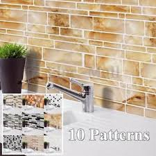 Image Is Loading 3D Wallpaper Sticker Tile Brick Self Adhesive Mosaic