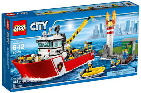 LEGO City 60109 Le Bateau De Pompiers | Just For Kids! | Lego City ...