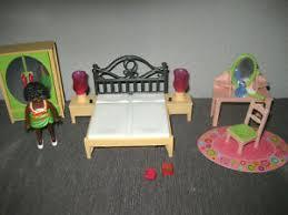playmobil villa puppenhaus wohnhaus schlafzimmer bett mit