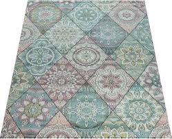 paco home teppich apisto 353 rechteckig 18 mm höhe kurzflor mit buntem design wohnzimmer bunt esszimmerteppiche teppiche nach räumen