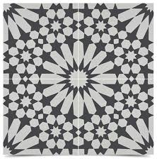 agdal handmade cement tiles black and white set of 12 8 x8