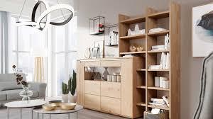 interliving wohnzimmer serie 2006 wohnkombination v13108 eiche bianco optiwhite zweiteilig breite ca 256 cm