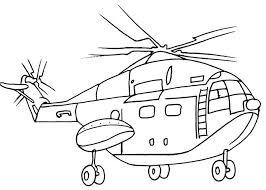 Coloring Page Helicopter Transportation 65