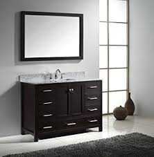 60 Inch Bathroom Vanity Single Sink Black by 60