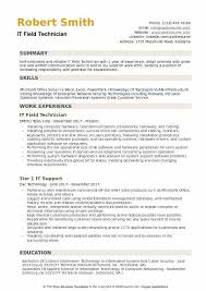IT Field Technician Resume Sample Download PDF