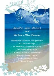 Modern Seaside Summer Beach Wedding Invitations EWI038